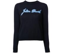 Karierter Intarsien-Pullover