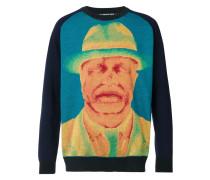 Pullover mit Porträt-Print