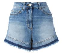 Jeansshorts mit Fransen - women - Baumwolle - 27