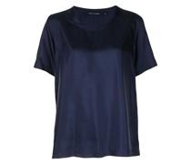 T-Shirt aus Seide mit U-Ausschnitt
