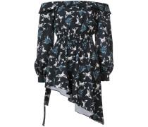 Schulterfreie Bluse mit Print