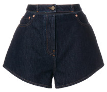 'Lipstick Waves' Shorts mit Stickerei
