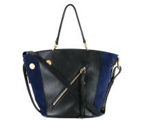 Handtasche mit schrägem Reißverschluss