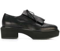 platform lace-up loafers