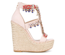 Wedge-Sandalen mit Applikationen - women