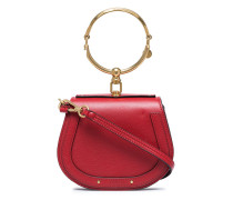 Red Nile small leather bracelet bag