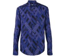 Hemd mit Print - men - Baumwolle/Elastan - 40