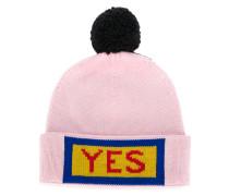 """Wollmütze mit """"Yes""""-Stickerei"""