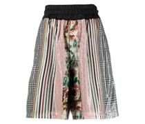 Shorts mit Patchwork-Design