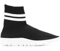 Sock-Sneakers mit Querstreifen