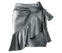 frill trim wrap mini skirt