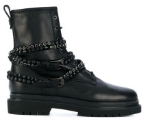 studded stap boots