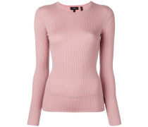 round neck fine knit jumper