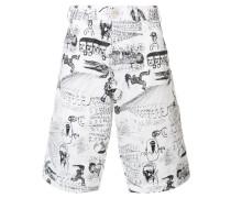 Shorts mit Zeichnungs-Print