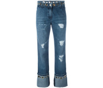 Jeans in Distressed-Optik - women