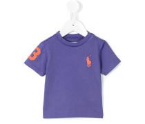 T-Shirt mit Logo-Stickerei - kids - Baumwolle