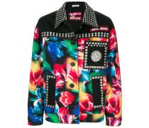 studded multicoloured jacket