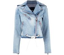 Jeansjacke mit Kordel - women - Baumwolle - XS