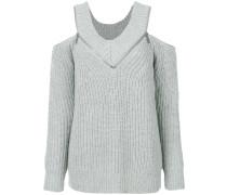 cut-out zip jumper