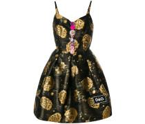 Kleid mit Folien-Print aus Wolle