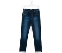 Jeans mit ausgeblichenem Effekt