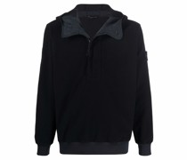 compass badge hooded jacket