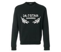 '24-7 Star' Sweatshirt mit Stickerei