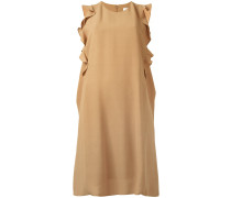 Kleid mit seitlichen Rüschen