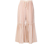 flared cuff palazzo trousers