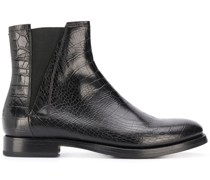 embossed chelsea boots