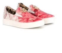 Slip-On-Sneakers mit floralen Akzenten
