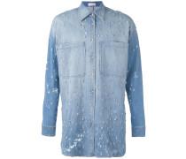 Langes Hemd mit Kristallverzierung - men