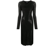 Schmales Kleid mit Verzierung