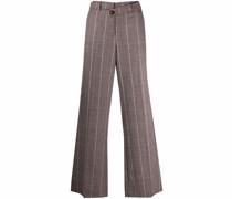 stripe-print trousers