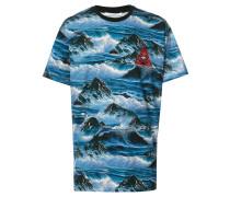 T-Shirt mit Wellen-Print