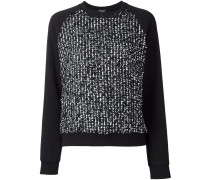 flocked effect sweatshirt