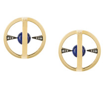 18kt gold and diamond Radial Creoles earrings
