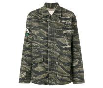 Military-Jacke mit Camouflage-Print