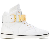 High-Top-Sneakers mit Logo-Schild