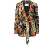 floral belted fitted jacket