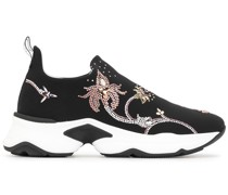 Slip-On-Sneakers mit Strass