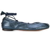 Ballerinas mit Schnürung - women - Leder/rubber