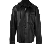 shirt jacket with hood
