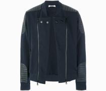 zipped biker sweater