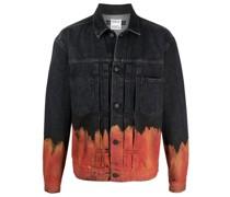 Jeansjacke mit Flammen-Print
