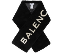 Shearling logo scarf