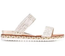 - Sandalen mit Metallic-Effekt - women