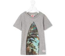 T-Shirt mit Surfbrett-Print - kids - Baumwolle