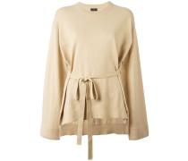 Weiter Pullover mit Gürtel - women - Baumwolle