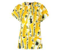 printed short-sleeved blouse